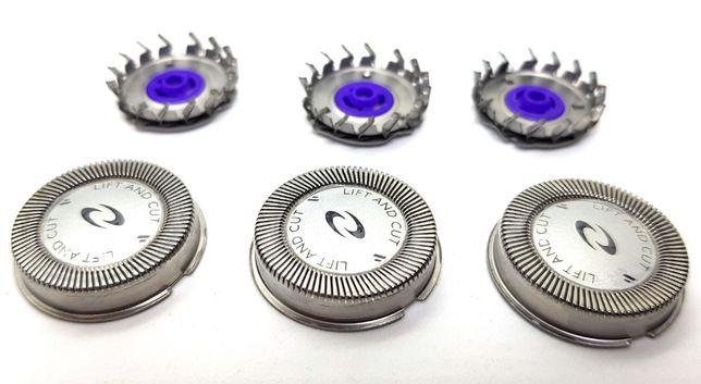 Бритвенные головки 3шт Philips HQ56/HQ55 ножи лезвия сетка бритва
