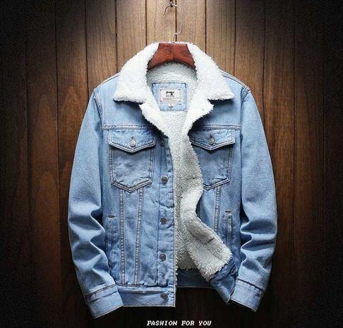 Мужская джинсовая куртка хит осень XL XXL Распродажа