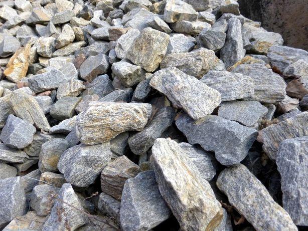 GNEJS Kamień ozdobny Ogrodowy Kora Kamienna SZARA Ogród Granit