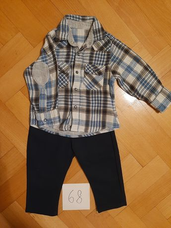 Komplet koszula + spodnie rozmiar 68