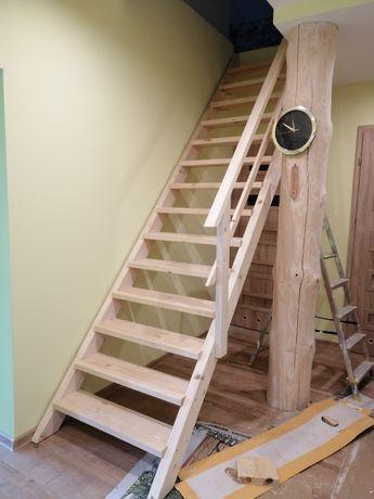 Schody drewniane -proste