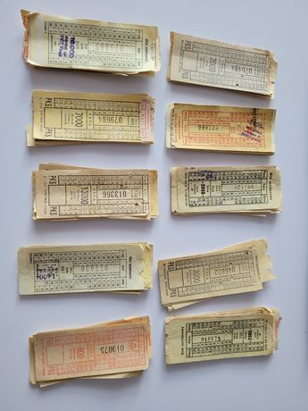 Stare bilety autobusowe PKS 220 sztuk