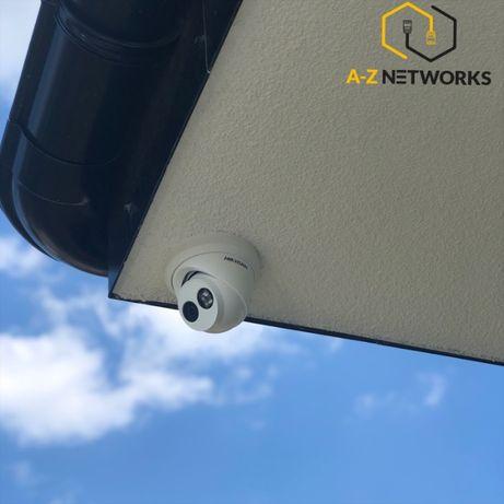Montaż Instalacja CCTV Monitoring Bezprzewodowy Alarm Sieci Wi-Fi