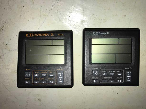 Monitores Concept2 remo avariados