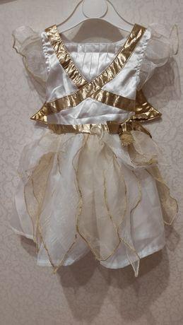 нарядное платье ангелочка для фотосессии,размер 9-12 мес