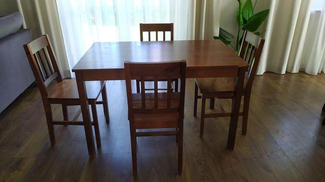 Stół kuchenny, jadalniane + 4 krzesła