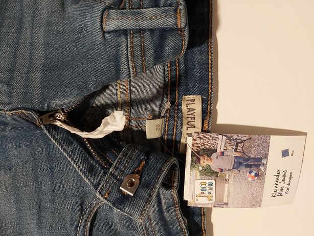 Nowe jeansy, dżinsy chłopięce 86/92, świetny fason