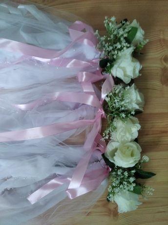 Ozdoby , dekoracje na ślub na ławki  i krzesła do kościoła