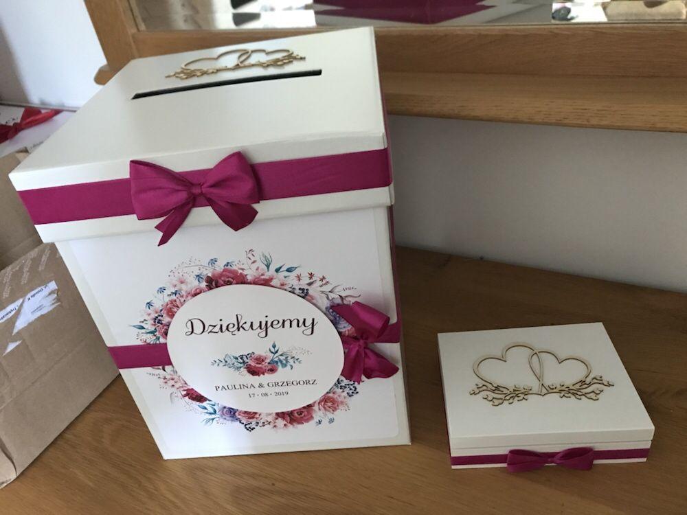 Komplet ślubny wieszaki szkatułka i pudełko