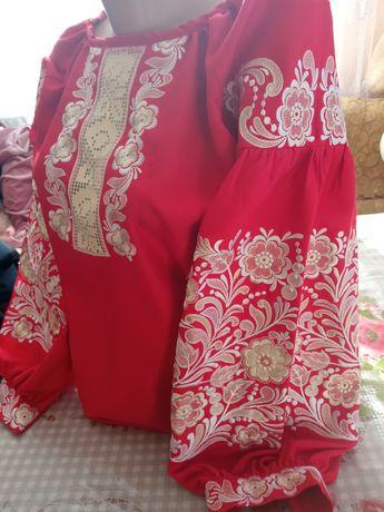Сорочка жіноча пошиву бохо тканина онікс домоткане полотно)