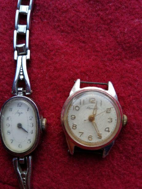 Часы женские наручные луч аврора slava настольные механические