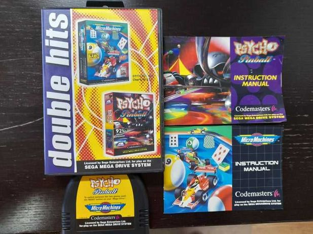 Megadrive Double Hits Psycho Pinball/Micro Machines