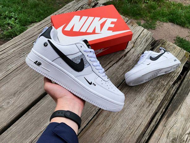 Мужские осенние кроссовки Nike Air Force 1'82 (2 цвета) белые 41-46 р