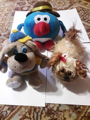 Мягкие игрушки Пин из мультика ,и два щенка