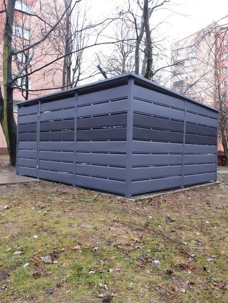 Wiata smietnikowa 5x4m wiata panelowa schowek garaż smietnik