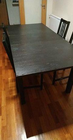 Mesa extensível+4 cadeiras