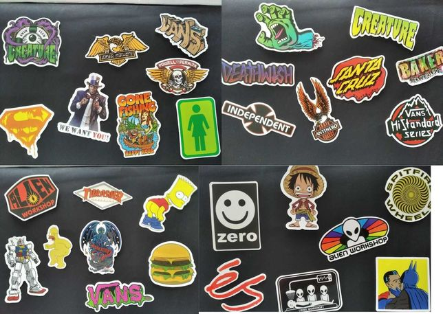 Autocolantes marcas, para skate, laptop.. etc..