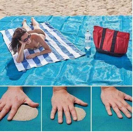 Пляжная подстилка, коврик анти-песок, антипесок, 200*150см, есть опт