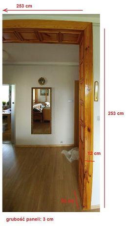 Panele boazeria kasetony łuk drewniany duży lakierowany do wnętrz PRL