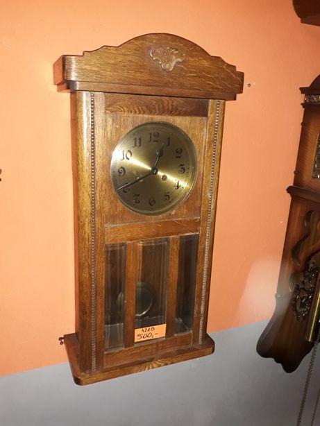Stary wiszący zegar gabinetowy marki Dufa
