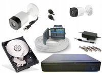Zestaw Kamer Monitoringu FullHD 3,6mm 2Mpx Dahua AHD podgląd na żywo