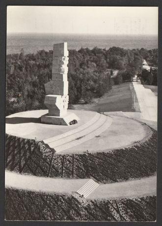 pocztówka - Westerplatte 1968/69 - pomnik Bohaterów
