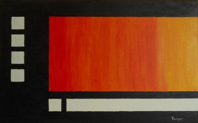 """Картина масляными красками """"Пламя"""". Абстракция."""