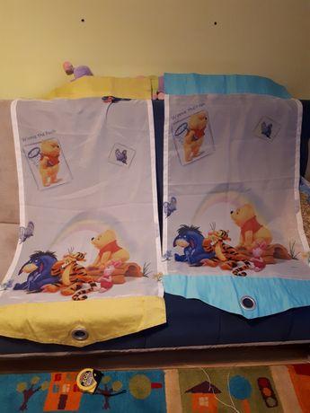 Firanka dziecięca z misiem puchatkiem,  2 panele, plus skos