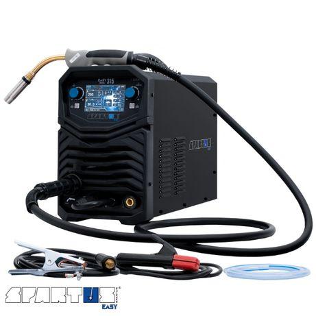 Migomat Spawarka Spartus 300 A Easy Mig 315 400V Technaz FV23% 4 rolki
