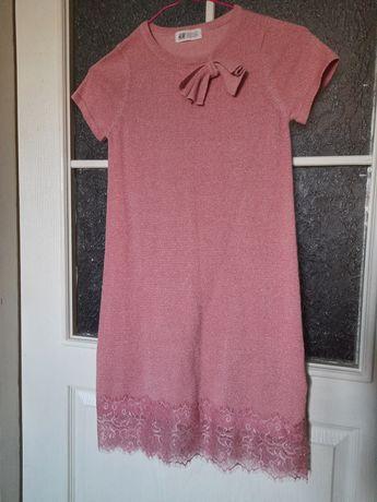 Платье трикотажное,лёгкое,розовое, на дев.9-10лет-250грн
