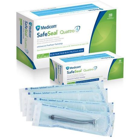 Крафт пакеты Medicom SafeSeal Quattro, 89 x 229 мм
