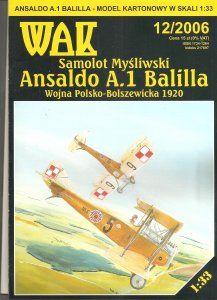 Model kartonowy - Samolot Myśliwski