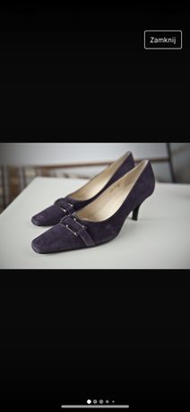 Buty, czółenka na obcasie r40 na szczupłą stopę