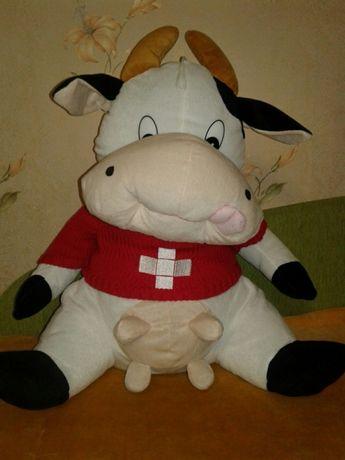 """Большая мягкая игрушка """"Корова""""."""