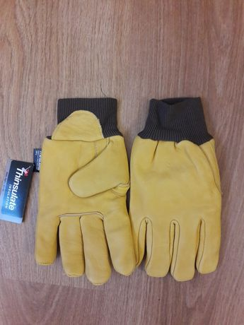 Перчатки кожанные желтые Thinsulate 3M для работы