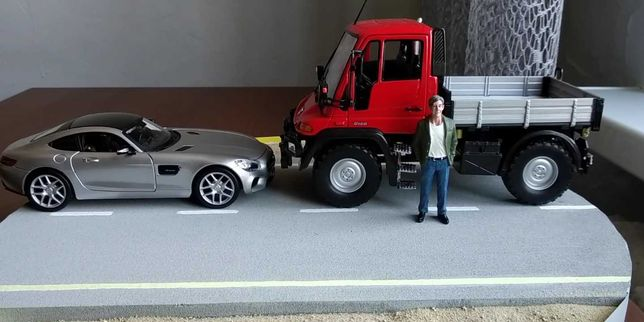 Mercedes Unimog welly 1/24 модель