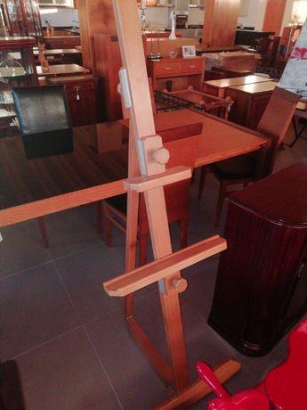 Cavalete em madeira ajustável p/quadros, telas