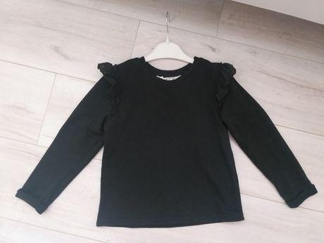 Bluza h&m 110/116 Z falbankami haftowanymi