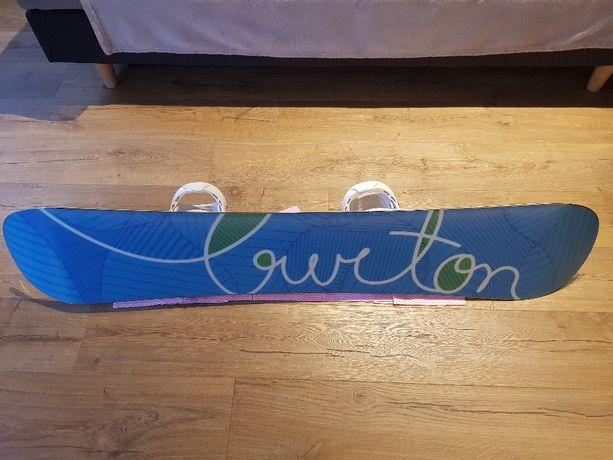BURTON LUX47 deska snowboard 147cm, jak nowa + wiazania Salomon