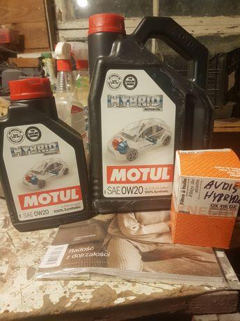 Olej Motul hybrid 0w20 5l plus filtr