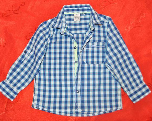 koszula Cool Club Smyk r.92/98 chłopięca w kratę długi rękaw, jak nowa