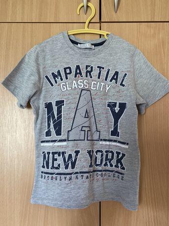 Серая летняя футболка, рост 122см, б/у