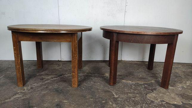 Stary drewniany okrągły stolik ława
