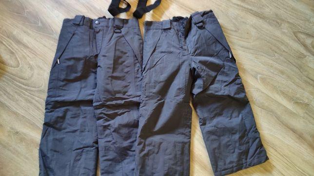 Dwie sztuki spodni narciarskich 98/104