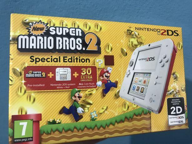 Nintendo 2DS Desbloqueada - Edição Especial Super Mario