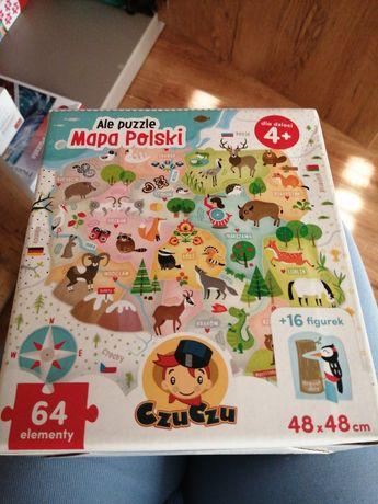 Ale puzzle mapa Polski. Czuczu