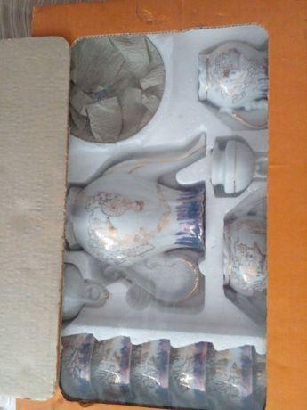 Conjunto de chavenas de cafe com aperteichos Chines novo.