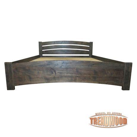 Кровать деревянная Флоренция (ольха массив, ДУБ щит или ДУБ массив).