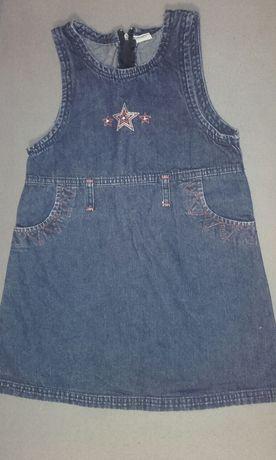 Jeansowa sukienka dla dziewczynki 122/128