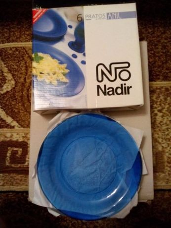Набор посуды Синий Тарелки, пиалки